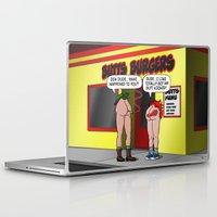 butt Laptop & iPad Skins featuring KICK BUTT! by SCREAMNJIMMY