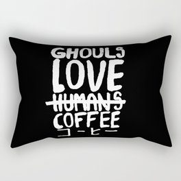 Ghouls Love Coffee Rectangular Pillow
