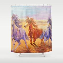 Free Spirits   Esprits Libres Shower Curtain