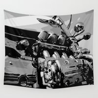 motorcycle Wall Tapestries featuring Motorcycle #4 by RS4S6