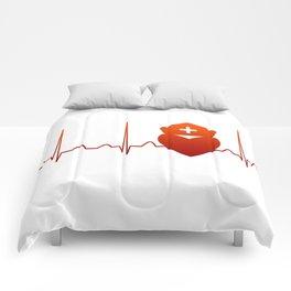 NURSE HEARTBEAT Comforters