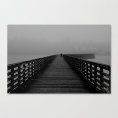 Alone on the Pier Canvas Print