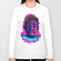 tyler the creator Long Sleeve T-shirts featuring Tyler The Creator II (Pink) by ASHUR Collective™