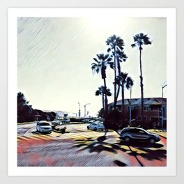 Santa Monica. Art Print