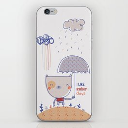 Rainy days iPhone Skin
