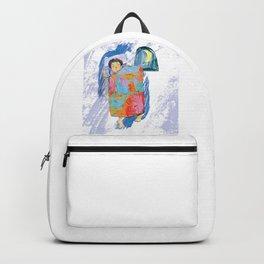 Sleeping and dreaming illustration, design for children Backpack