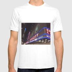 Radio City Music Hall White MEDIUM Mens Fitted Tee