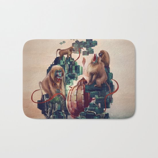 monkey temple Bath Mat