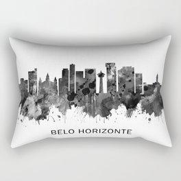 Belo Horizonte Brazil Skyline BW Rectangular Pillow