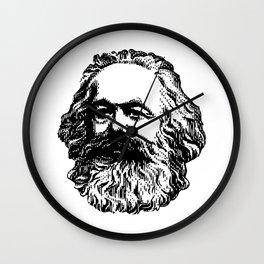 Karl Marx Head Wall Clock