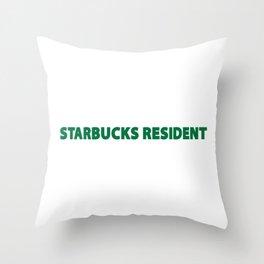 starbucks resident Throw Pillow