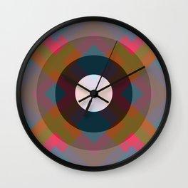 Colorful Retro Pattern Wall Clock