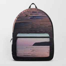 Glitched Sunset on the Ocean Backpack