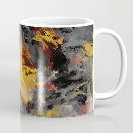 Yellow / Golden Abstract / Surrealist Landscape Painting Coffee Mug
