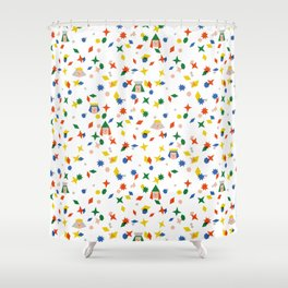 Confetti King  Shower Curtain