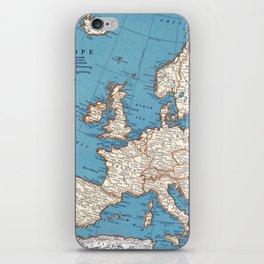 Map of Europe iPhone Skin