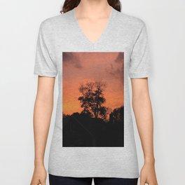 Tree on Fire Unisex V-Neck