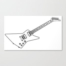 Modern Electric Guitar Outline Canvas Print