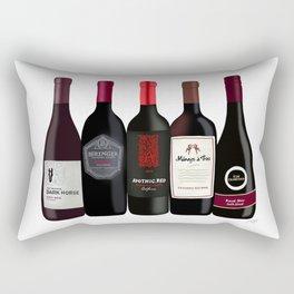 Red Wine Bottles Rectangular Pillow