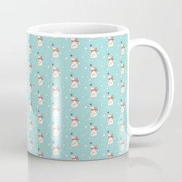 Modern teal white cute Christmas bear pattern Coffee Mug