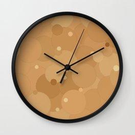 Desert Mist Bubble Dot Color Accent Wall Clock