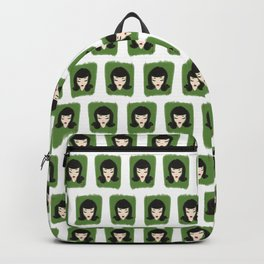Raven-haired Pin-up Backpack