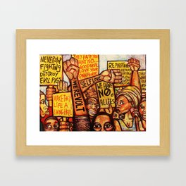 2020 Reparations Is My Only Language End The Psychotic Maniac Terrorism by Marcellous Lovelace Framed Art Print