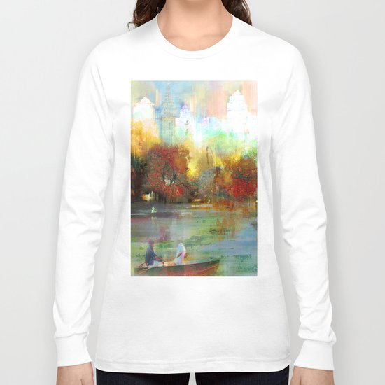 Afternoon autumnal in Central Park Long Sleeve T-shirt