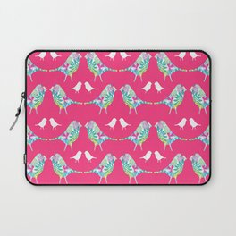 Pink Bird Print Laptop Sleeve