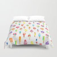 popsicle Duvet Covers featuring Popsicle by Golden Girl Art