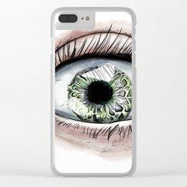 Macro Eye Clear iPhone Case