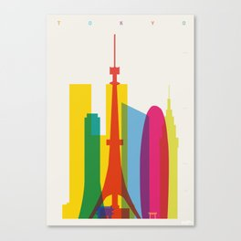Shapes of Tokyo. Accurate to scale. Canvas Print