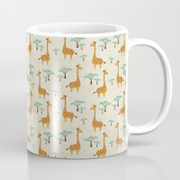 giraffes Mugs featuring Giraffes by BlueLela