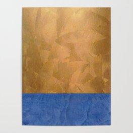 Copper Metallic With Tuscan Blue Stripe Trim Poster