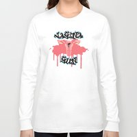 vagina Long Sleeve T-shirts featuring Vagina Gun by Killmonkies