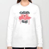 vagina Long Sleeve T-shirts featuring Vagina Gun by Katherine_Montalto