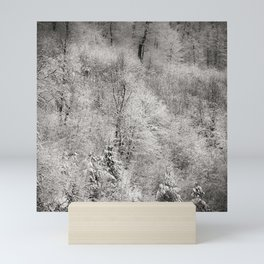 Trees covered with snow, winter landscape. Mini Art Print