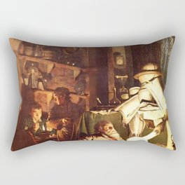 Joseph Wright of Derby - The Alchemist Discovering Phosphorus Rectangular Pillow