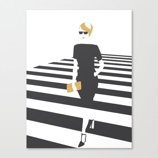 Zebra walk Canvas Print