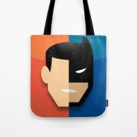 heroes Tote Bags featuring Heroes by Evan Gaskin