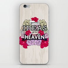 Good Ideas go to Heaven iPhone & iPod Skin