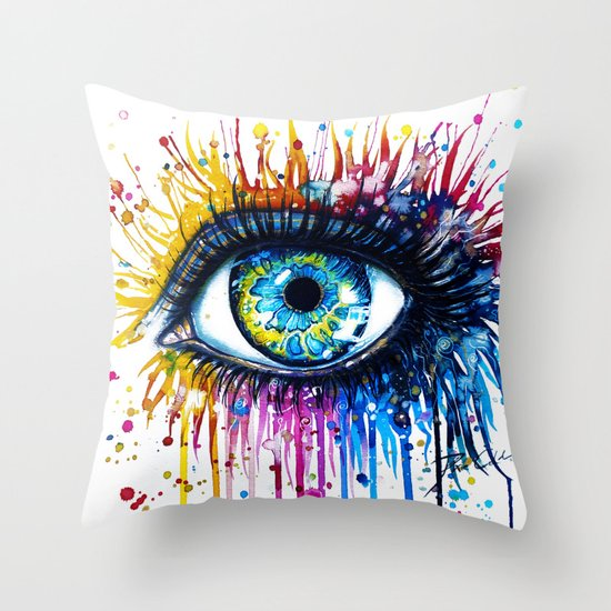 """Rainbow Eye"" Throw Pillow"