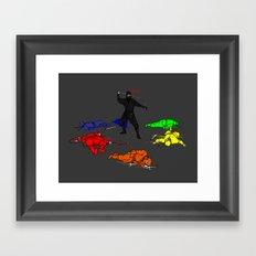 Anti-Colored Ninja Framed Art Print