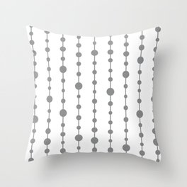 Gray vertical lines and dots Throw Pillow