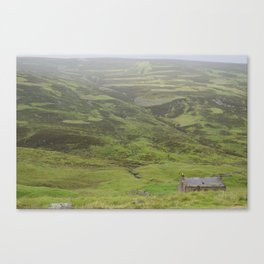 A Lone Bothy in the Highlands Canvas Print