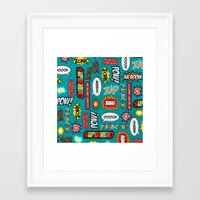sayings Framed Art Prints featuring super heros sayings by  Alexia Miles photography