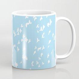 Happy Birds Aqua Coffee Mug