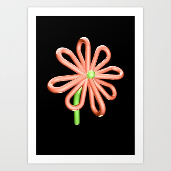Balloon Flower Art Print