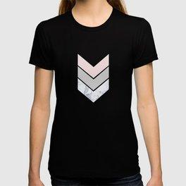 Scandinavian Marble Blush Gray T-shirt