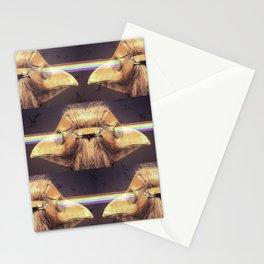 Bubonic Plague Mask Rays Stationery Cards